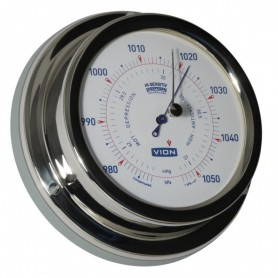 Vion Barometer Glanzend RVS - 129 mm