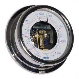 Vion Barometer Open Versie Glanzend RVS - 150 mm