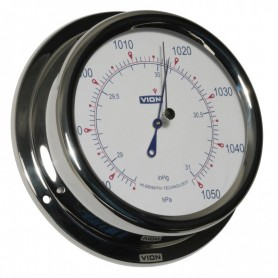 Vion Barometer Glanzend RVS - 150 mm