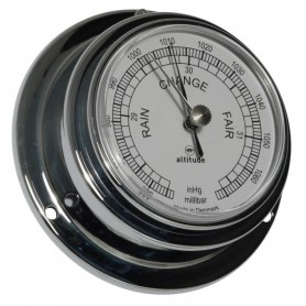 Altitude Barometer Engels Verchroomd Messing - 95 mm