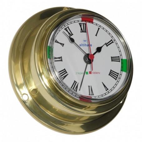 Altitude Quartz Klok Radiostilte Alarm Romeins Messing - 95 mm
