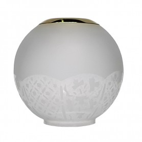 E.S. Sørensen Globe Lampenglas Top Ring Bloemmotief