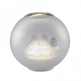 E.S. Sørensen Globe Lampenglas Top Ring Scheepsmotief