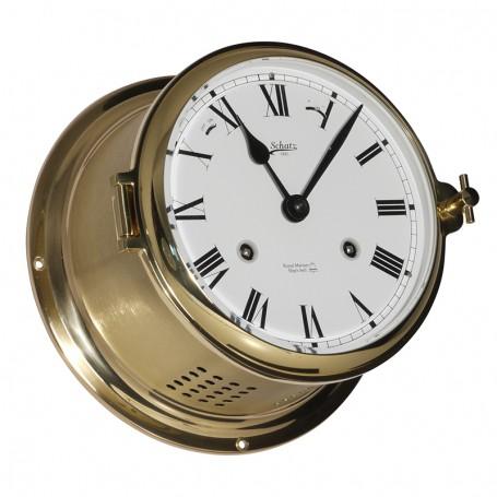 Schatz 1881 Royal 180 Mechanische Klok Glazen Slaand Romeins Mat Messing - Schatz 1881 - Mechanische Klokken - 481 CM