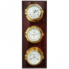 Wempe Regatta Quartz Klok Barometer Comfortmeter Op wandplaat