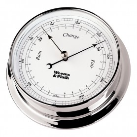 Weems En Plath Endurance I 85 Barometer Verchroomd Messing - 108 mm