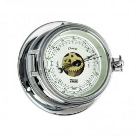 Weems En Plath Endurance II 105 Barometer Verchroomd Messing - 121 mm