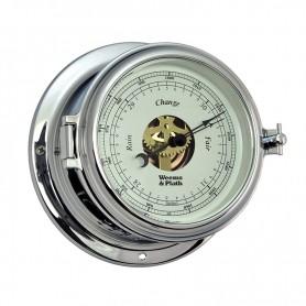 Weems En Plath Endurance II 115 Barometer Verchroomd Messing - 152 mm