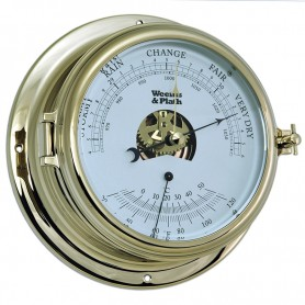 Weems & Plath Endurance II 135 Barometer Thermometer Messing - 178 mm